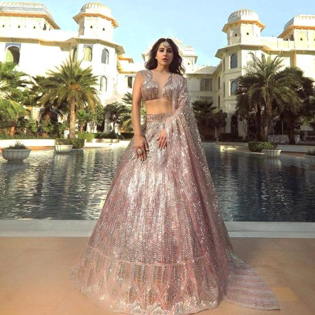 Sara Ali Khan exudes contemporary glamour in Manish Malhotra's Nooraniyat sequinned lehenga
