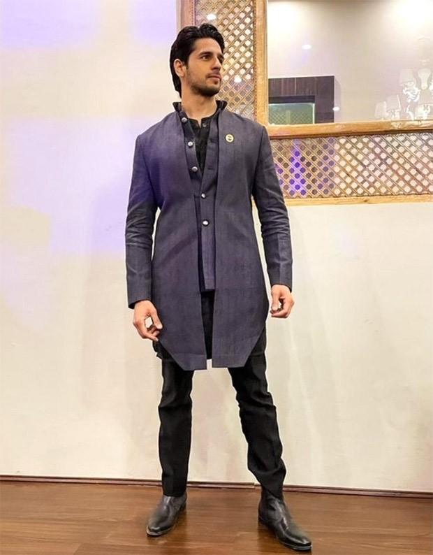 Sidharth Malhotra looks charming in a fusion kurta custom made by Kunal Rawal