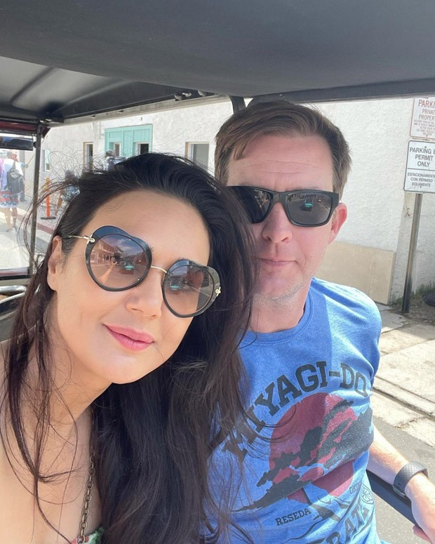 """""""Sometimes you just have to slow things down,"""" says Preity Zinta as she enjoys a slow-motion ride with Hubby Gene Goodenough"""