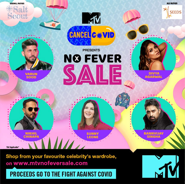 Sunny Leone, Saqib Saleem and many celebrities come forward in support of 'MTV No Fever Sale', a celebrity closet fundraiser for Covid-19 relief-