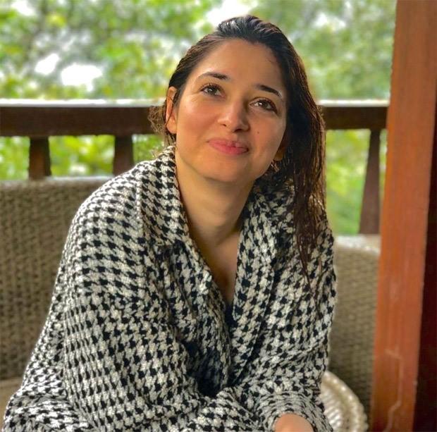 Tamannaah Bhatia glows in serene photos, dons jacquard jacket