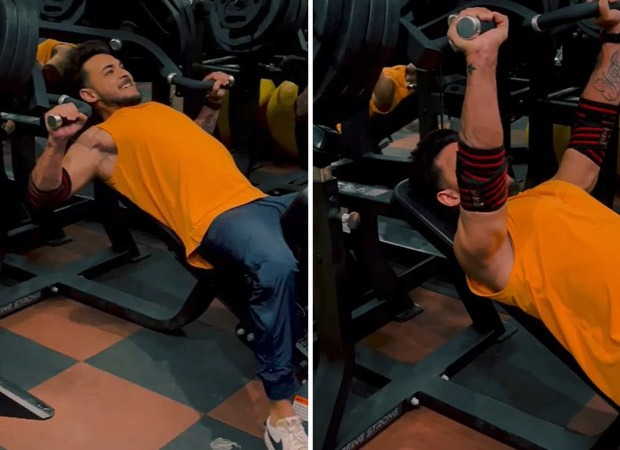 Aayush Sharma trains 'heavy' with a 185 kgs chest press, hits the gym after a long break