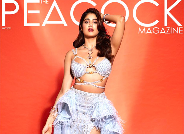 Janhvi Kapoor looks mesmerising in Falguni Shane Peacock's creation for the cover of The Peacock