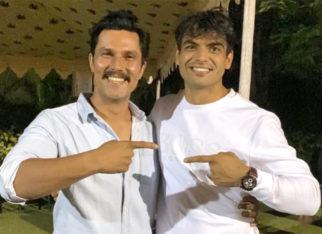 Randeep Hooda meets gold medalist Olympian Neeraj Chopra at Army Sports Institute, both have a fan-boy moment