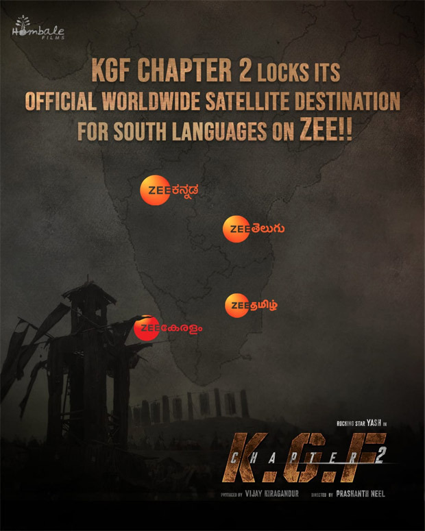 KGF Chapter 2 south satellite rights sold for a record price to ZEE : Bollywood News – Bollywood Hungama