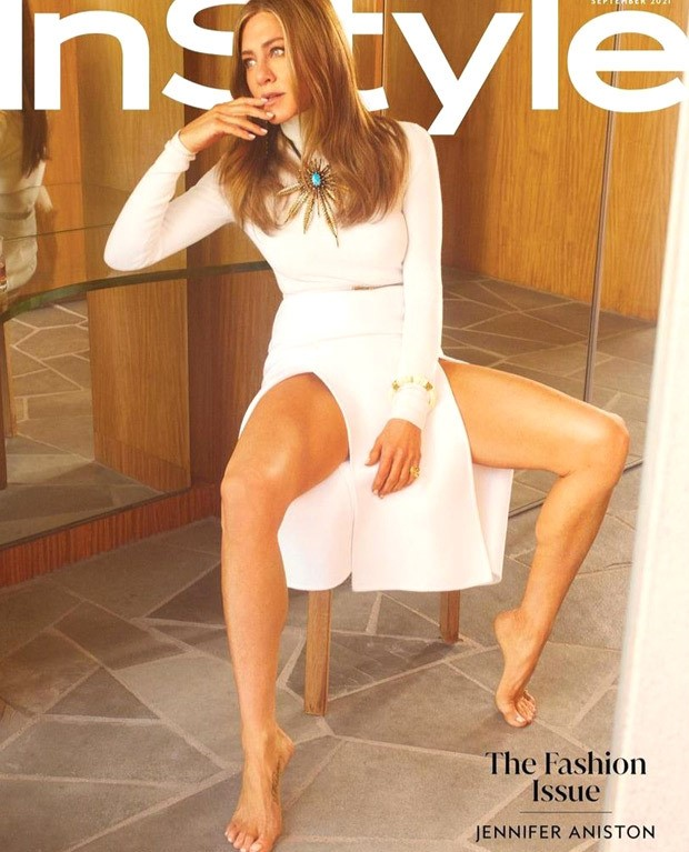 Jennifer Aniston makes heads turn as she poses in all-white outfit on the cover of InStyle