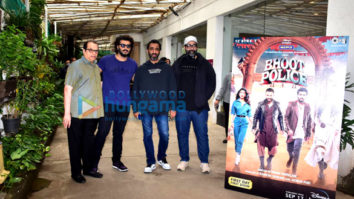 Photos: Celebs snapped at private trailer preview of Bhoot Police