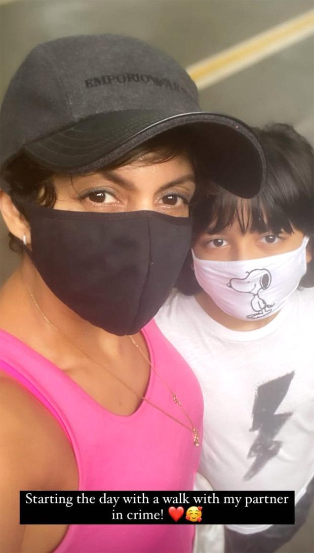 Mandira Bedi posts happy pictures of her kids; calls son Vir her partner-in-crime