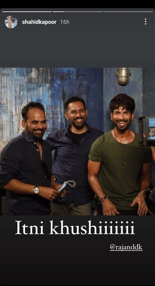 Shahid Kapoor shares BTS footage from his first web series with Raj and DK