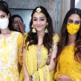 Rhea Chakraborty and Krystle D'Souza look stunning at Rumi Jaffery's daughter Alfia's Mehendi ceremony