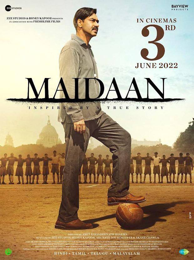 Ajay Devgn starrer Maidaan to release on June 3, 2022