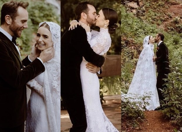 Emily in Paris star Lily Collins shares her romantic fairytale wedding  pictures with her husband Charlie McDowell in a beautiful Ralph Lauren  wedding gown : Bollywood News - Bollywood Hungama