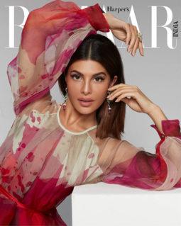 Jacqueline Fernandez on the cover of Harper's Bazaar