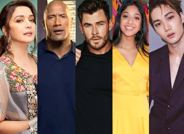 Madhuri Dixit Dwayne Johnson Chris Hemsworth Maitreyi Ramakrishnan EXOs Kai Heechul Jung Hae In join the lineup of Netflixs global fan event Tudum.