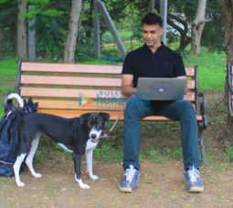 On the sets of the movie Nirmal Anand Ki Puppy