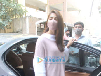 Photos: Pooja Hegde spotted at dubbing studio