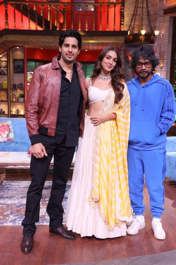 Sidharth Malhotra and Kiara Advani celebrates success of Shershaah on The Kapil Sharma Show