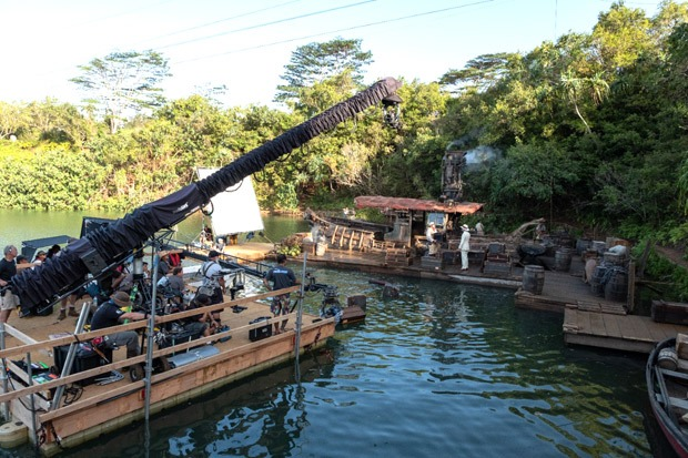 """""""The big star of the actual Jungle Cruise ride is the backside of water,"""" says director Jaume Collet-Serra on his Disney movie Jungle Cruise"""
