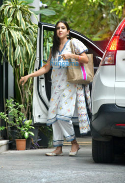 Photos: Sara Ali Khan spotted at Maddock Films office