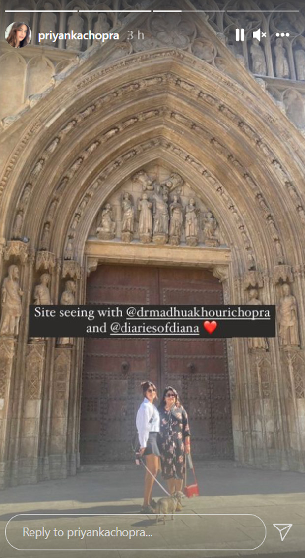 Priyanka Chopra shares pictures with Mum as they go sightseeing in Spain
