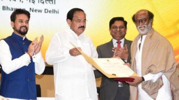 Rajinikanth receives the Dadasaheb Phalke Award; dedicates it to his guru K Balachander, film fraternity, and fans
